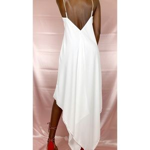 Express Sexy backless white low high dress